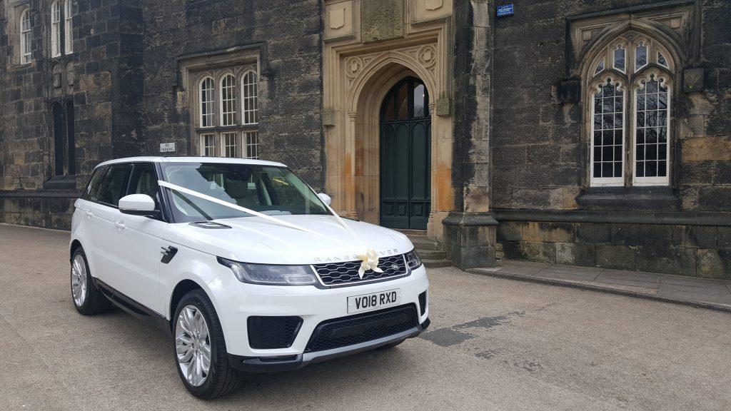 Newest White Range Rover for prestige wedding car hire birmingham