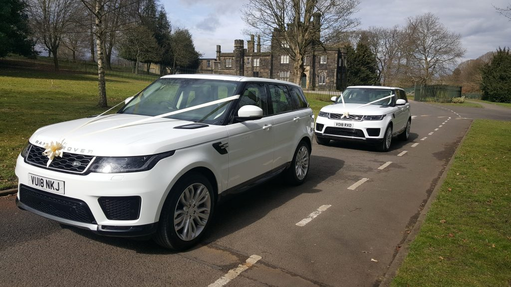 pair of range rovers