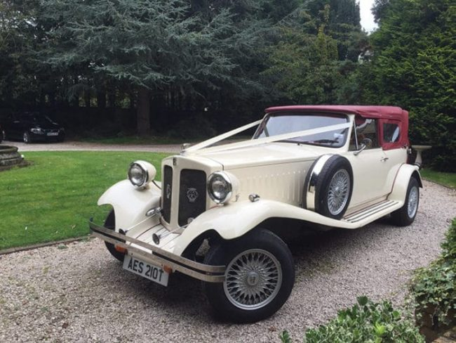 Beauford Tourer for vintage wedding car hire birmingham
