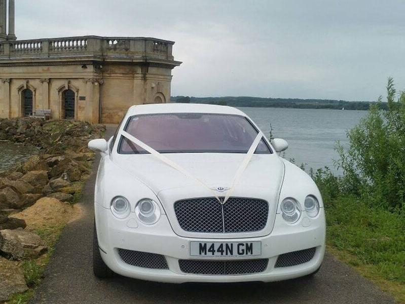 bentley continental flying spur for prestige wedding car hire birmingham