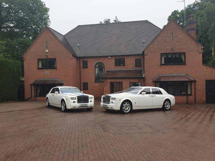 prestige wedding car hire Birmingham with rolls royce phantoms