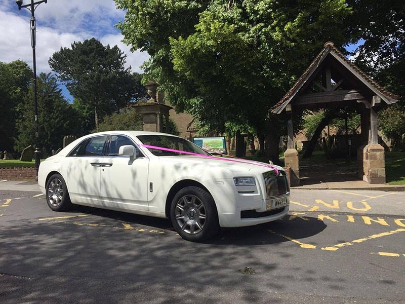 rolls royce ghost for prestige wedding car hire birmingham