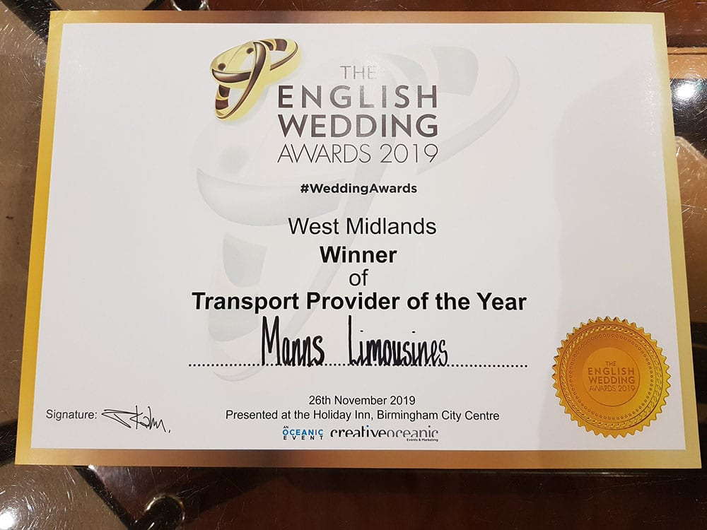 Manns Award for transport provider of the year