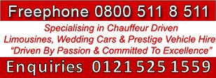 wedding car hire and limo hire logo