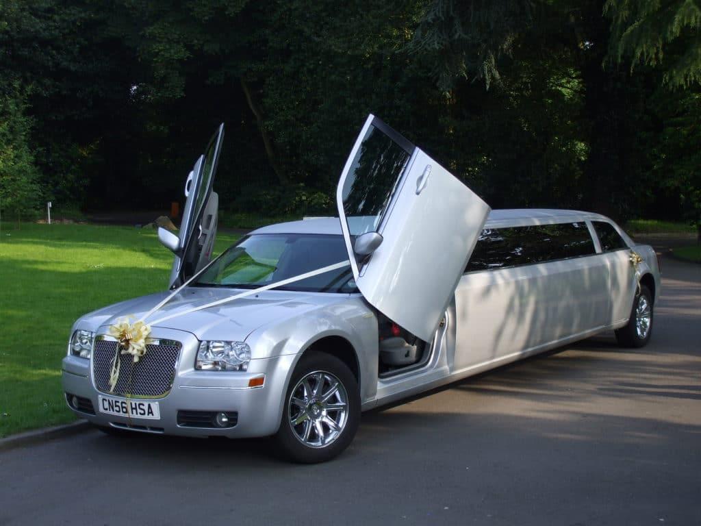silver limousine