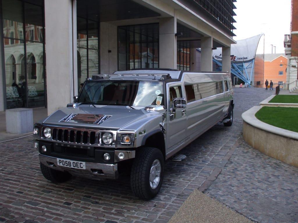 hummer limo outside