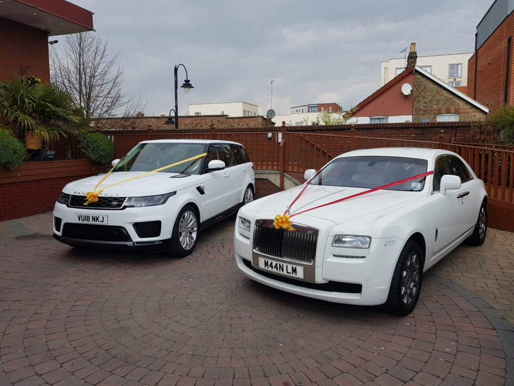 wedding cars on drive