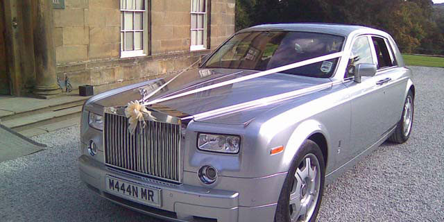 Rolls Royce wedding hire silver