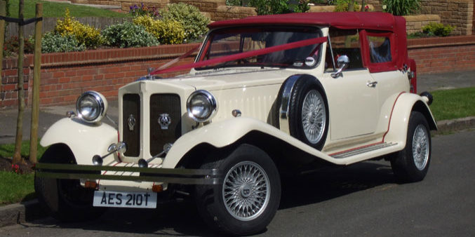Ivory Beauford Tourer classic car hire