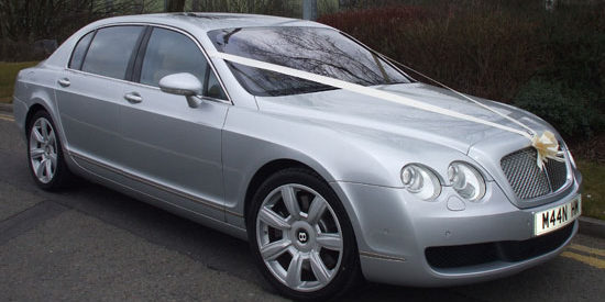 Luxury Silver Bentley continental