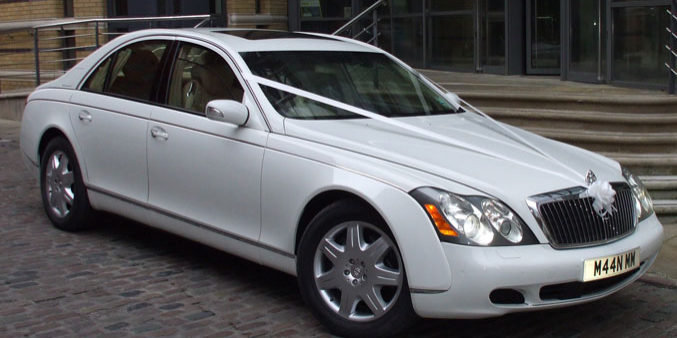White Maybach Manns Limo Car Fleet