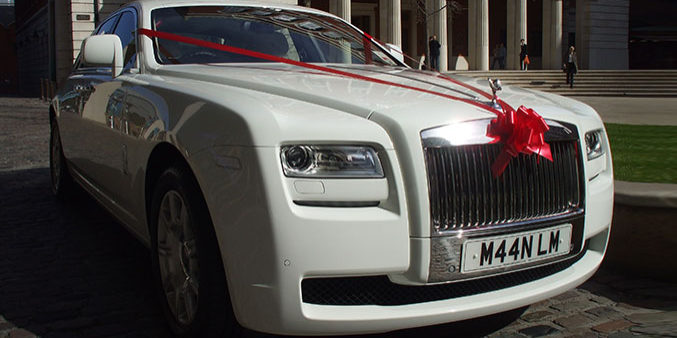 White Rolls Royce Ghost car hire